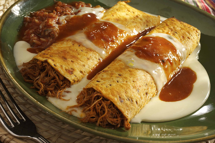 BBQ Pulled Pork Enchiladas