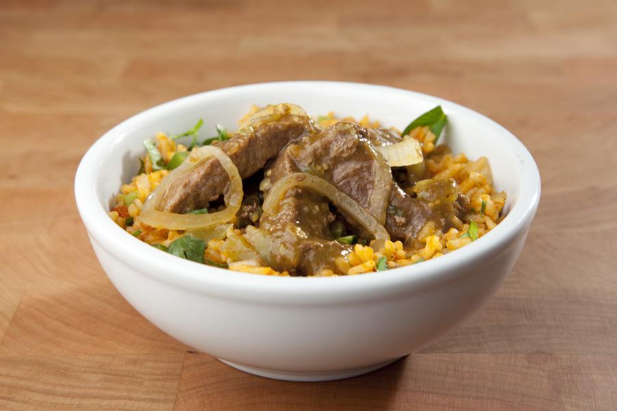 Verde Beef Rice Bowl
