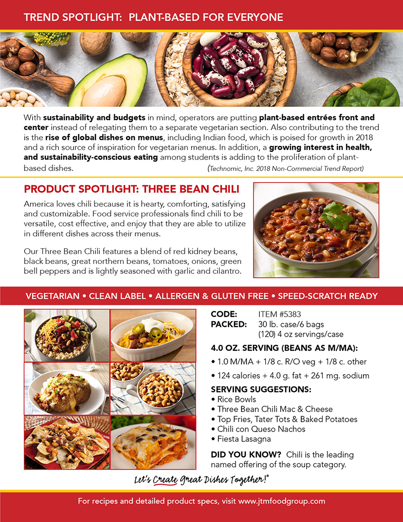 Jtm food group view our three bean chili trend report forumfinder Images